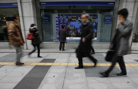 US STOCKS-Wall St jumps with financials; Gilead data offsets virus fears