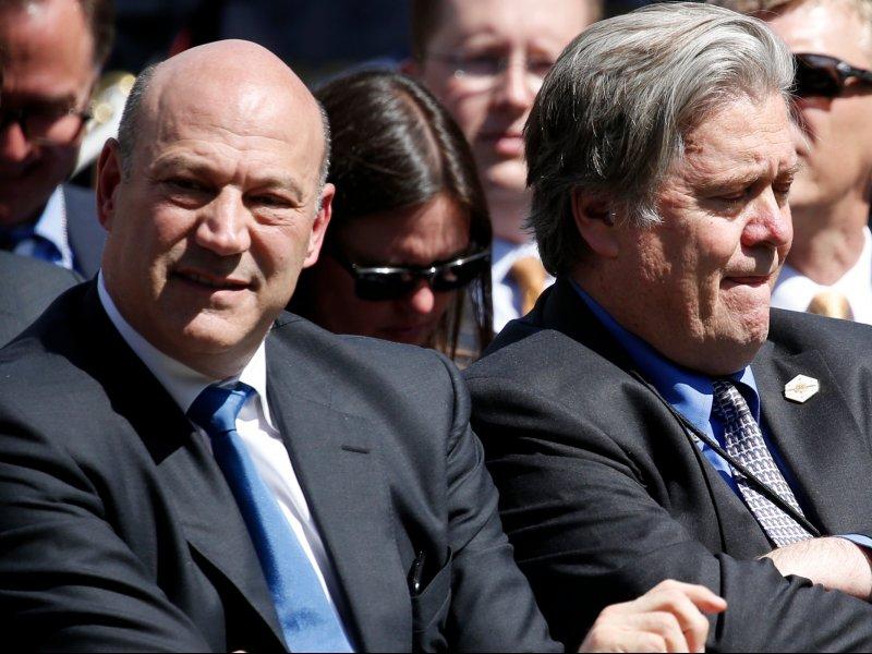 © Joshua Roberts/Reuters, Gary Cohn and Steve Bannon in June
