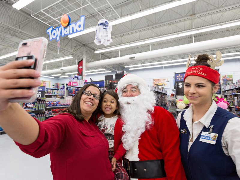 © Walmart, Walmart wants its stores to be festive places to shop this holiday.