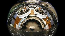 Stocks fall tracking global sell-off; Turkish lira recovers