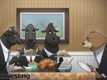 The Bulls are thankful for all the record highs the stock market hit this year. Happy...