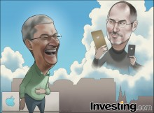 Apple records the biggest quarterly profit in corporate history thanks to its larger...