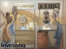はらはらさせる原油価格の下落が続く