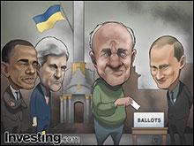 週末に行われるウクライナの選挙は、ロシアとの危機を悪化させてグローバル市場の急落 をもたら...