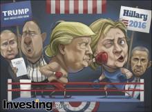 FBI가 힐러리의 이메일을 조사함에 따라 선거가 1주일도 남지 않은 시점에서 트럼...