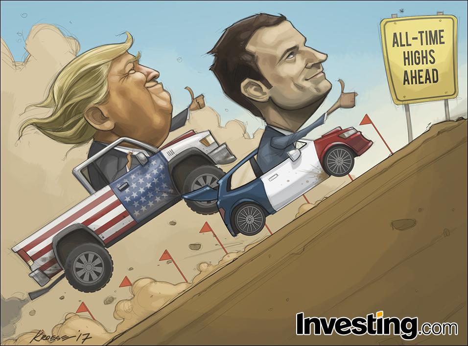 Trump en Macron blijven de wereldmarkten hoopvol stemmen