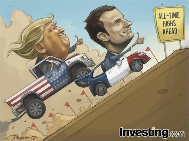 Trump y Macron dan continuidad al rally alcista de los mercados