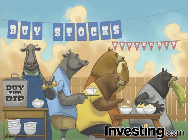 De beren zijn bezorgd terwijl de stieren van de dips blijven profiteren
