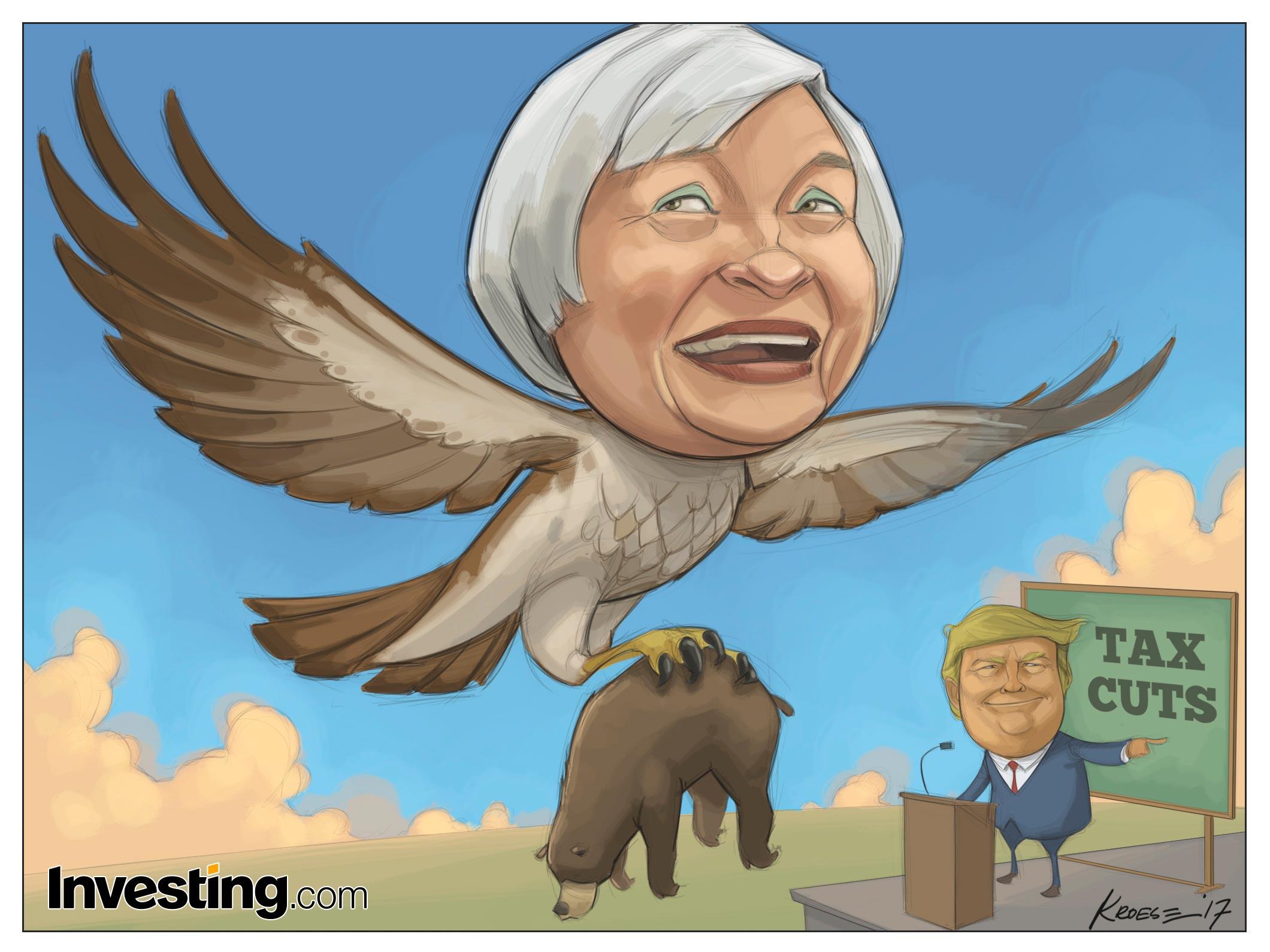 """Los mercados digieren la versión más """"halcón"""" de Yellen y los planes fiscales de Trump"""