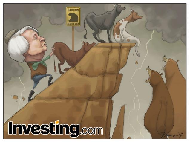 市場の上昇にはついに亀裂が生じた。FRBイエレン議長と強気派が疲れたためだ。