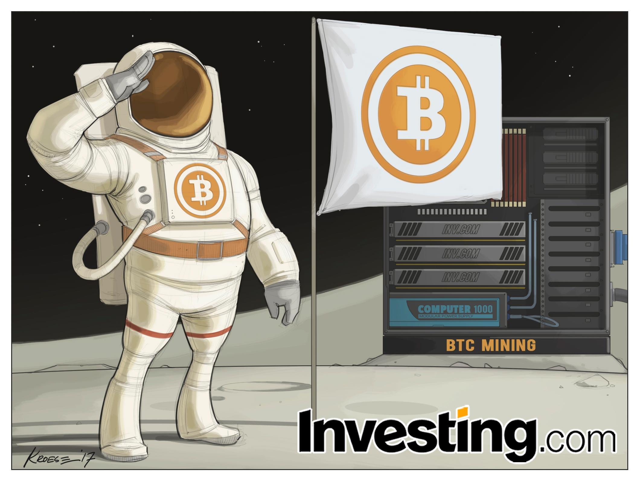Preços do bitcoin vão ao espaço com sequência de rali meteórico