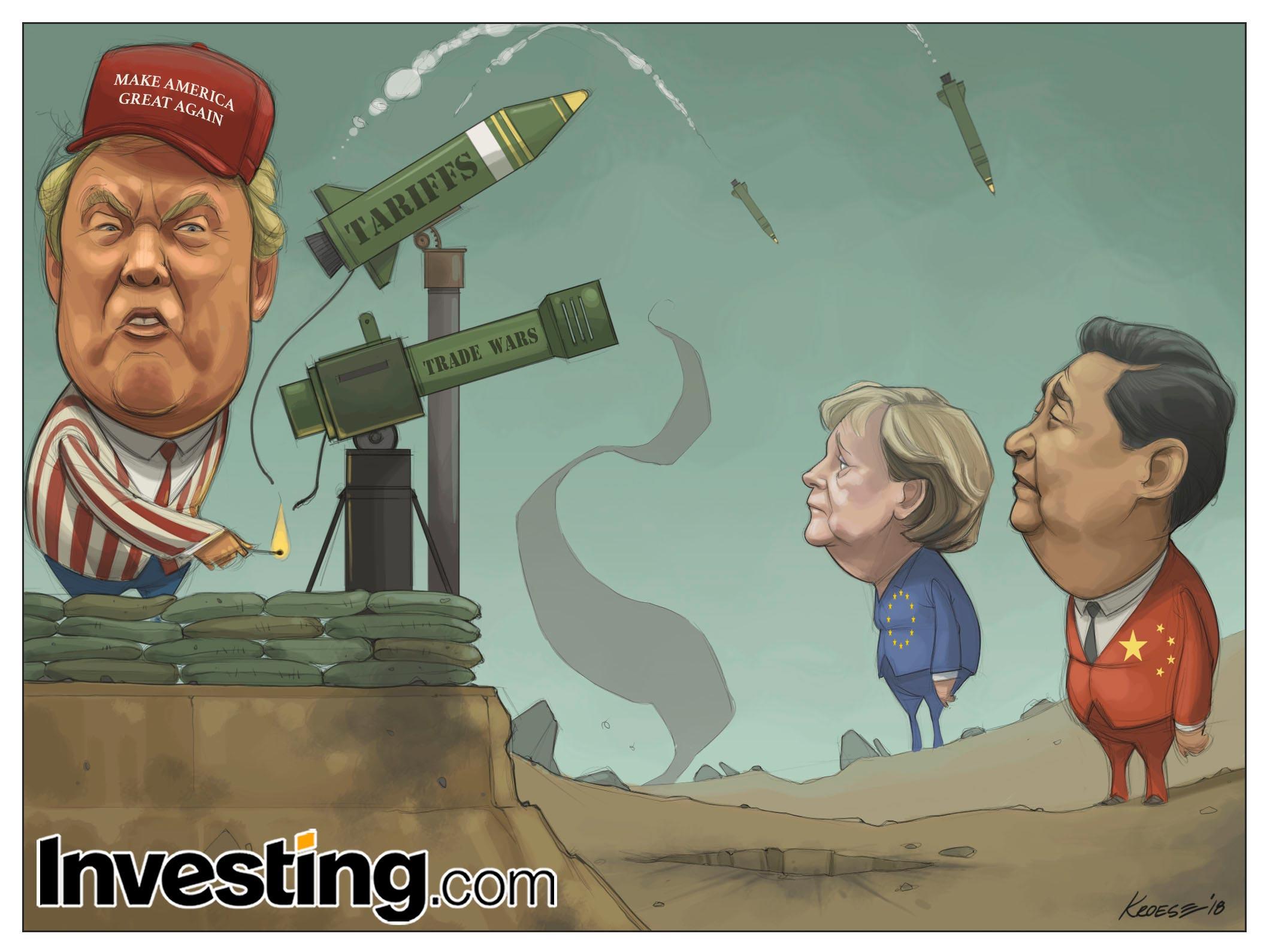 特朗普关税激发全球贸易战恐慌。
