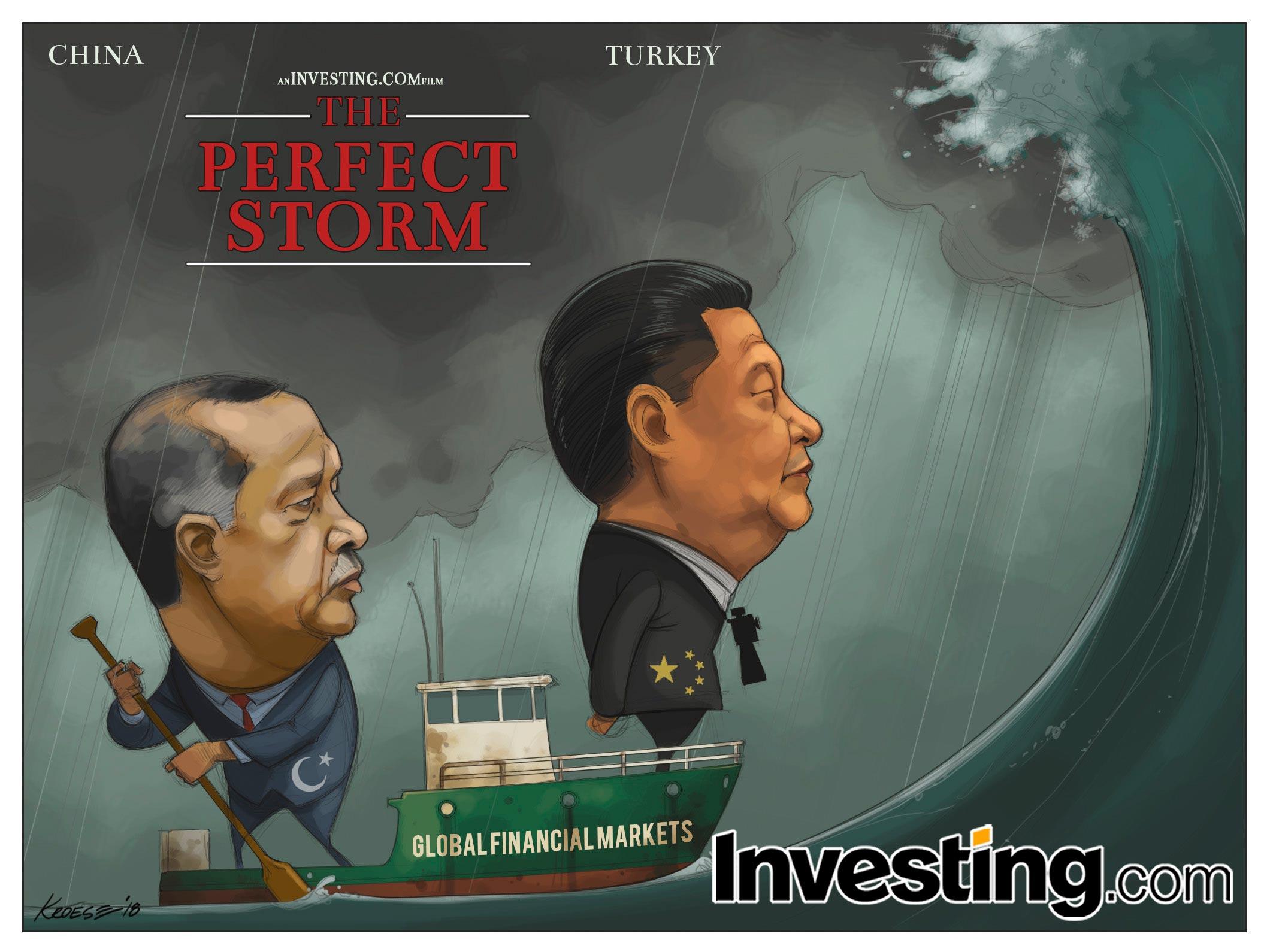 Potentielle crise majeure en préparation avec les turbulences en Chine et en Turquie