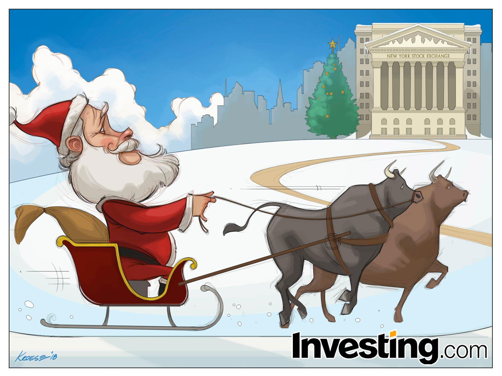 האם ראלי באדיבות סנטה קלאוס יבקר השנה את וול סטריט, או שמלחמות הסחר של טראמפ יניעו מטה את השווקים?