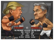 Powell sticks to rate hike message despite Trump's verbal attacks. Their fight looks set...