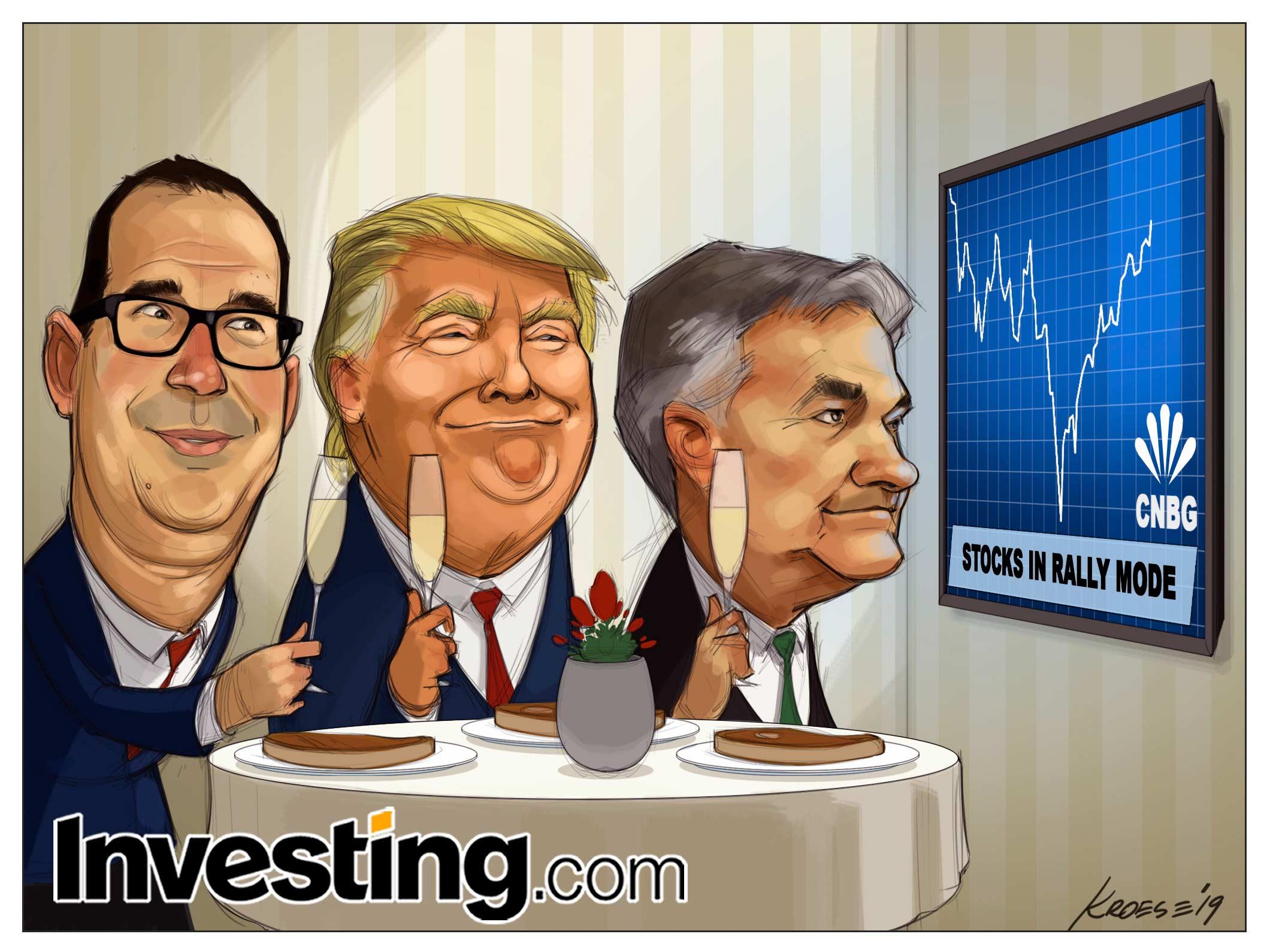 Powell treibt Wall Street an - zur Freude Donald Trumps