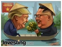 한 쪽배에 탄 트럼프&김, 동상이몽