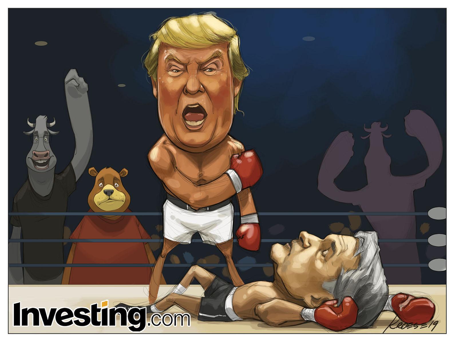 파월의 금리 인상 포기로 트럼프 승리