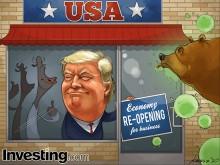 米経済再開はウォール街のムードをあげる トランプ大統領も経済再開の必要性を強調