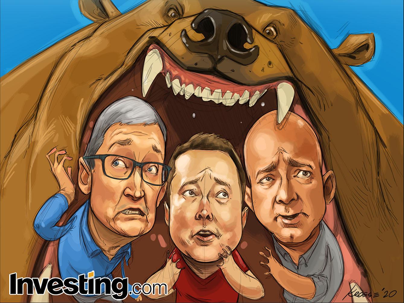 Tech-Led Selloff Leads To Nasdaq Correction As Tesla, Apple Push Markets Lower