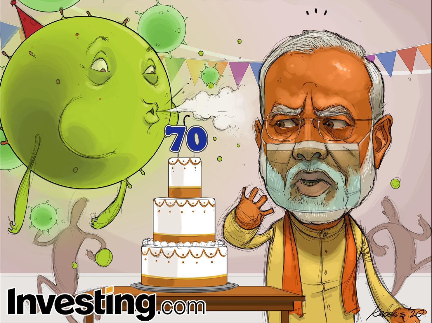 Coronavirus cases surge in India ruin Modi's 70th Birthday Celebration