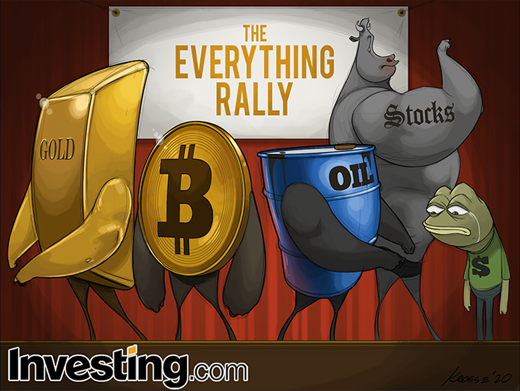 Stocks, Gold, Oil, And Bitcoin Rally As Dollar Tumbles To Kick Off 2021