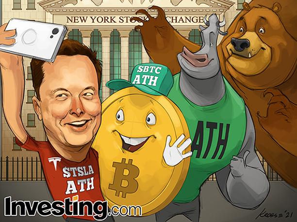 テスラ、ビットコインの価格修正はバブルがはじける恐怖を呼び起こす