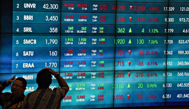 © Warta Ekonomi. Top 5 Saham Terkece dan Terjeblok Pekan Ini