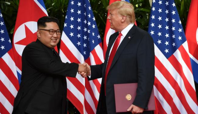 © Warta Ekonomi. Trump: Kim Bukan Ancaman Lagi