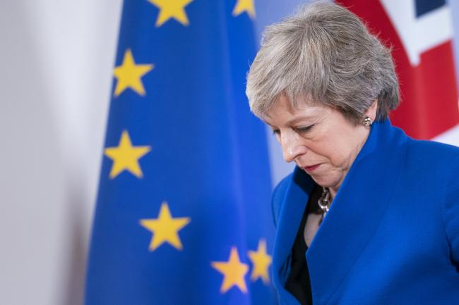 © Bloomberg. Theresa May Photographer: Jasper Juinen/Bloomberg