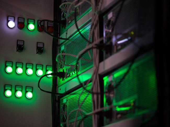 &copy Bloomberg. Mining farms