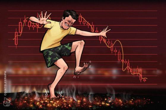 仮想通貨市場は全面安の展開、時価総額で上位100種の通貨は軒並み下落