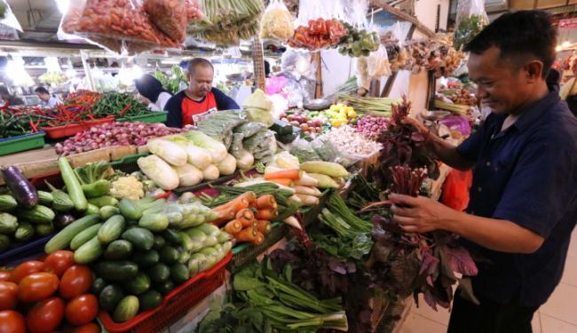 © Warta Ekonomi. Harga Sayuran Produksi Lokal di Ambon Normal