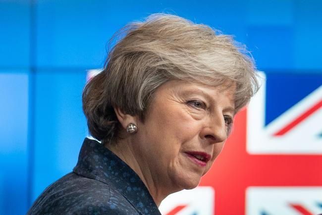 © Bloomberg. Theresa May Photographer: Jasper Juinen/Bloomberg