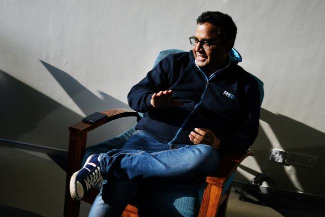© Bloomberg. Vijay Shekhar Sharma Photographer: Anindito Mukherjee/Bloomberg
