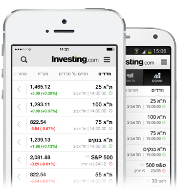 מניות באפליקציה בזמן אמת