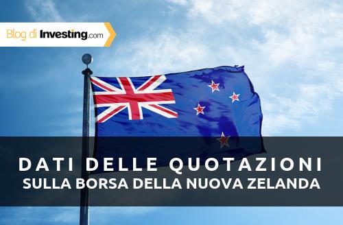 Investing.com aggiunge i dati sulle quotazioni della borsa della Nuova Zelanda