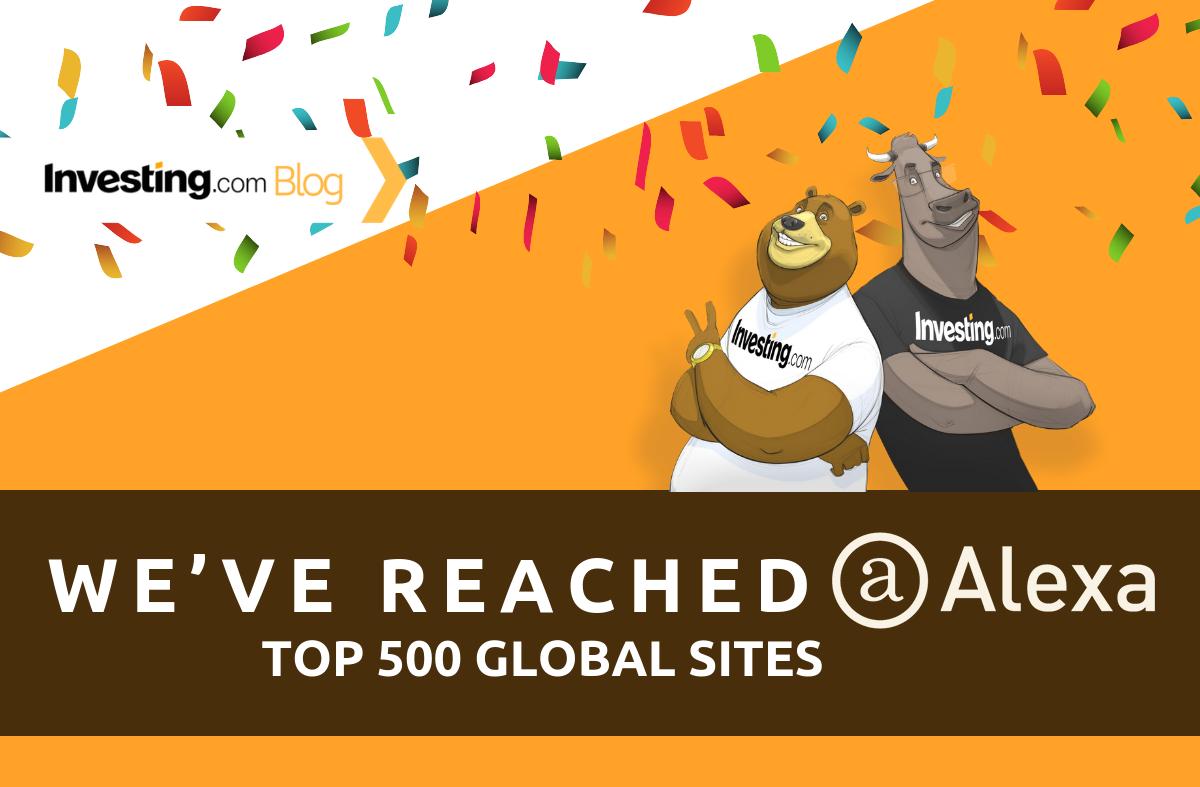 Investing.com Berhasil Masuk Daftar 500 Situs Top Global Alexa!