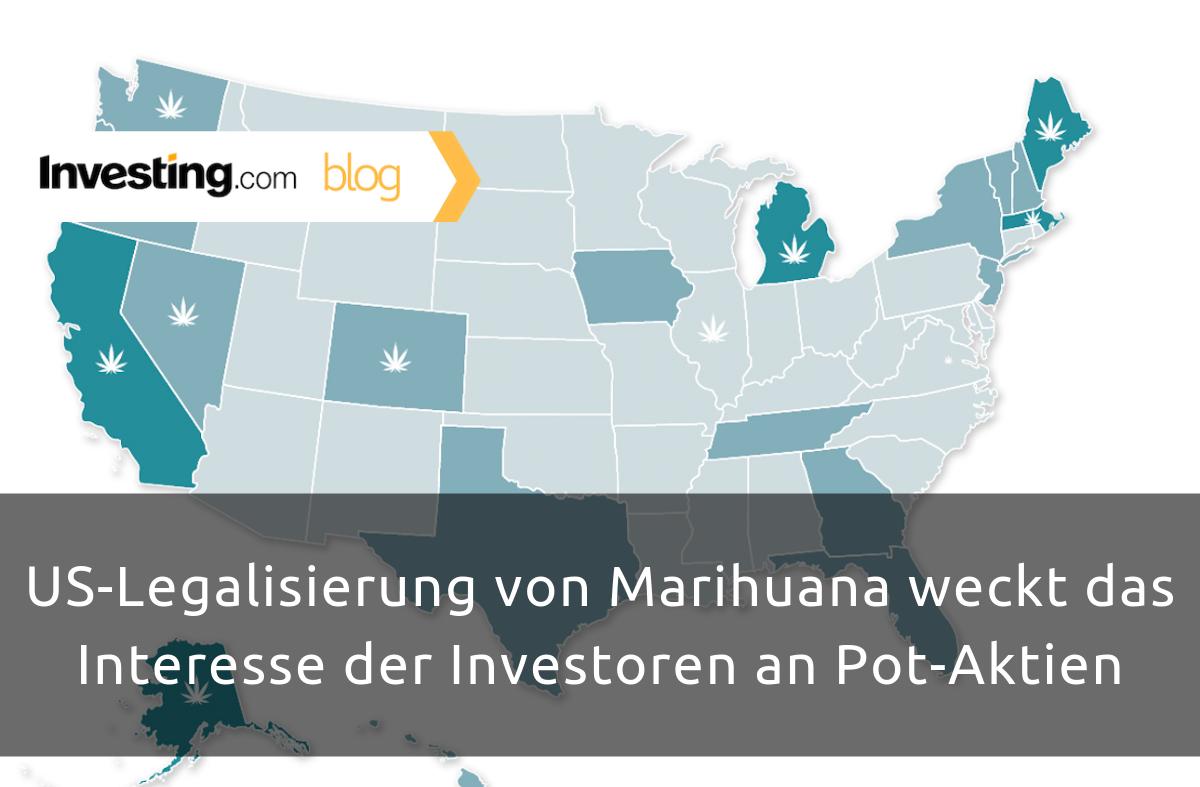 US-Legalisierung von Marihuana weckt das Interesse der Investoren an Pot-Aktien