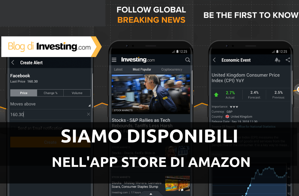 Puoi trovarci nell'App store di Amazon