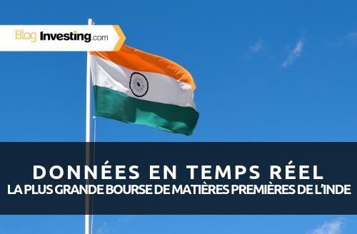 Nouveau ! Données en temps réel pour la plus grande bourse de matières premières d'Inde