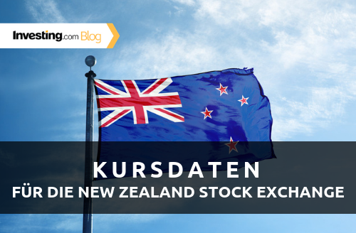Investing.com bietet jetzt auch Realtime-Kursdaten aus Neuseeland