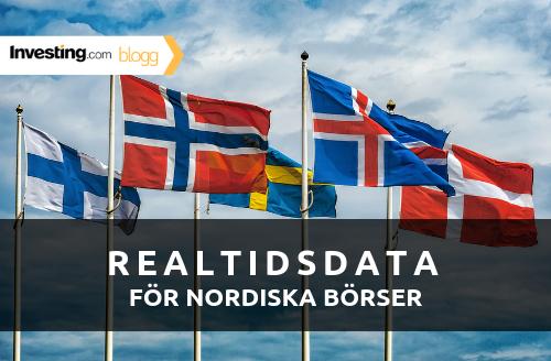 Investing.com lägger till data för nordiska börser i realtid
