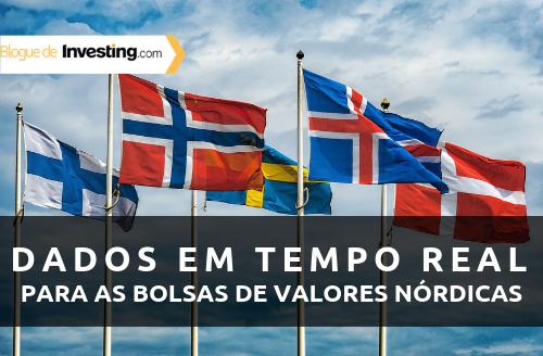 Investing.com adiciona dados em tempo real das bolsas de valores nórdicas