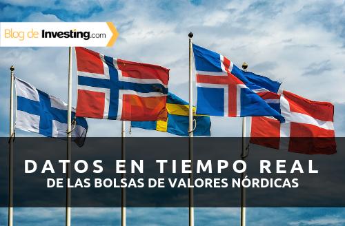 Investing.com ofrece datos en tiempo real de las bolsas de valores nórdicas