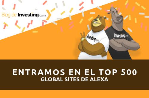 Investing.com entra en las 500 páginas más influyentes de Alexa