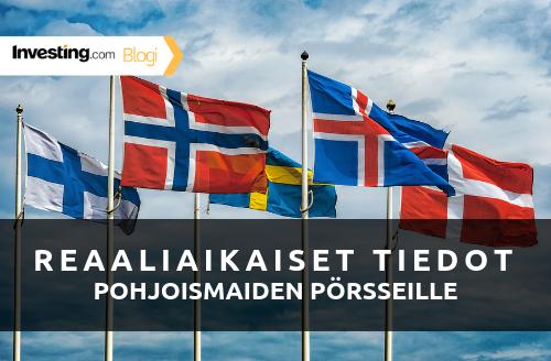 Investing.com lisää sivustolleen Pohjoismaiden pörssien reaaliaikaiset tiedot
