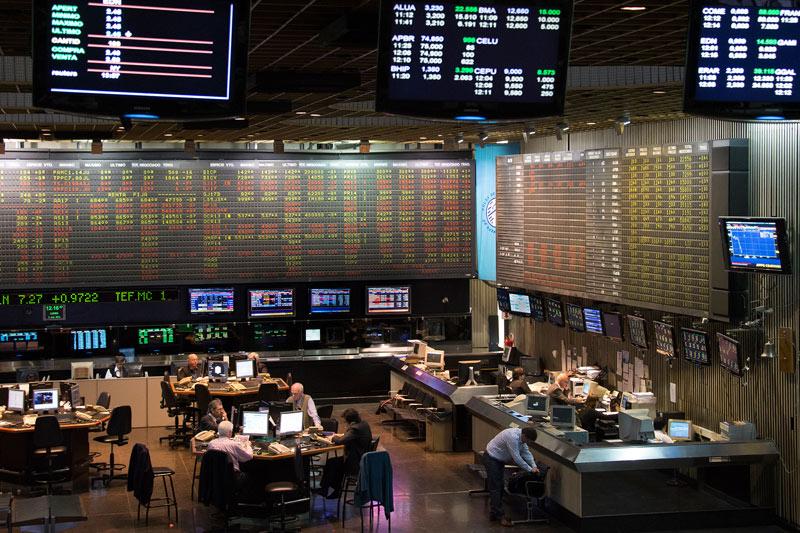 La Bolsa de Buenos Aires cierra con una bajada del 2,20 %