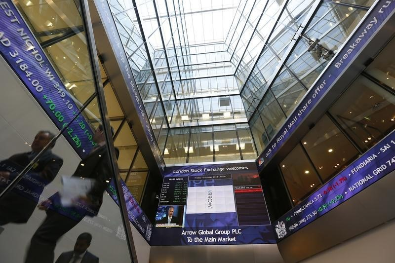 © Reuters. U.K. stocks higher at close of trade; Investing.com United Kingdom 100 up 0.30%