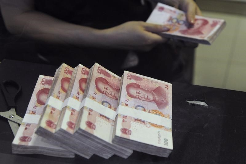 © Reuters. Foreign Funds Keep Pouring Into China Despite the Yuan's Jitters